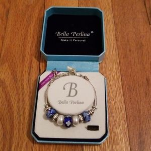 Bella Perlina Blue Floral Bracelet
